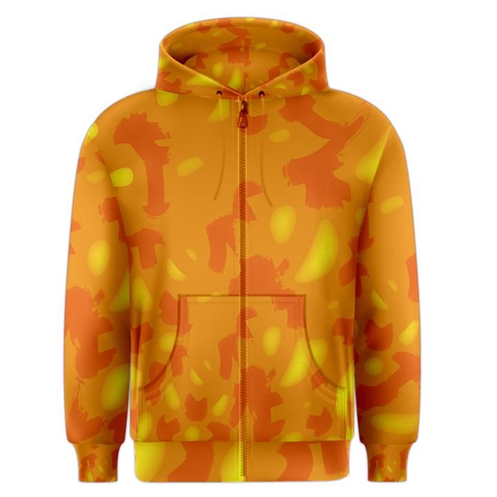 Orange decor Men s Zipper Hoodie