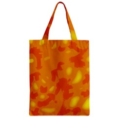 Orange Decor Zipper Classic Tote Bag