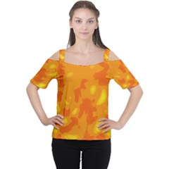 Orange Decor Women s Cutout Shoulder Tee by Valentinaart