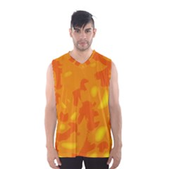 Orange Decor Men s Basketball Tank Top by Valentinaart