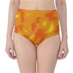 Orange decor High-Waist Bikini Bottoms