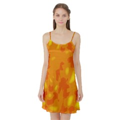 Orange Decor Satin Night Slip
