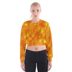 Orange Decor Women s Cropped Sweatshirt