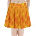 Orange decor Pleated Mini Skirt