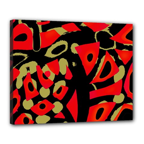Red Artistic Design Canvas 20  X 16