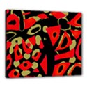 Red artistic design Canvas 24  x 20  View1