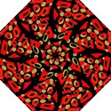 Red artistic design Folding Umbrellas View1