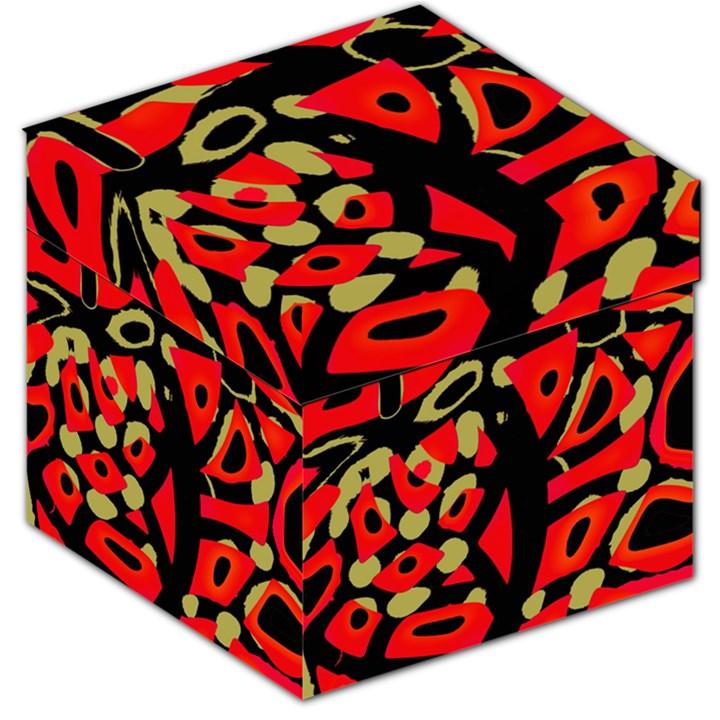 Red artistic design Storage Stool 12