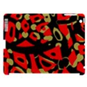 Red artistic design Apple iPad 3/4 Hardshell Case (Compatible with Smart Cover) View1