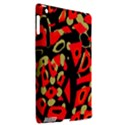 Red artistic design Apple iPad 3/4 Hardshell Case (Compatible with Smart Cover) View2