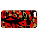 Red artistic design Apple iPhone 5 Hardshell Case View1