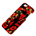 Red artistic design Apple iPhone 5 Hardshell Case View4