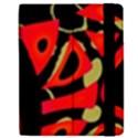 Red artistic design Apple iPad 2 Flip Case View2