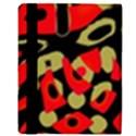 Red artistic design Apple iPad 2 Flip Case View3