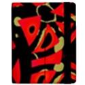 Red artistic design Apple iPad Mini Flip Case View2