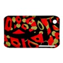 Red artistic design Apple iPhone 3G/3GS Hardshell Case (PC+Silicone) View1