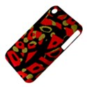 Red artistic design Apple iPhone 3G/3GS Hardshell Case (PC+Silicone) View4