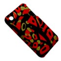 Red artistic design Apple iPhone 3G/3GS Hardshell Case (PC+Silicone) View5