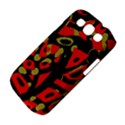 Red artistic design Samsung Galaxy S III Classic Hardshell Case (PC+Silicone) View4