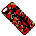Red artistic design Apple iPhone 5 Hardshell Case with Stand View5