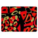 Red artistic design Samsung Galaxy Tab 10.1  P7500 Flip Case View1
