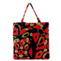 Red artistic design Grocery Tote Bag View1