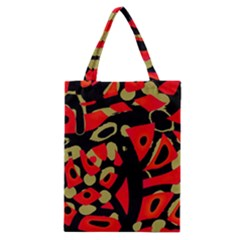 Red Artistic Design Classic Tote Bag by Valentinaart