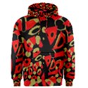 Red artistic design Men s Pullover Hoodie View1