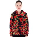Red artistic design Women s Zipper Hoodie View1