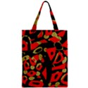 Red artistic design Zipper Classic Tote Bag View1