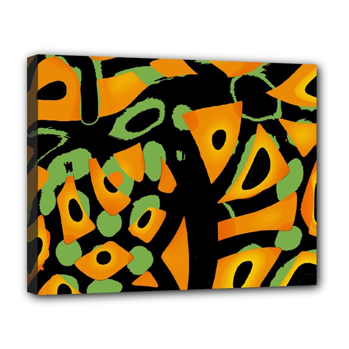 Abstract animal print Canvas 14  x 11