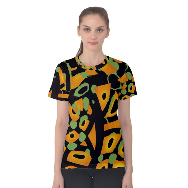 Abstract animal print Women s Cotton Tee