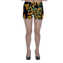Abstract animal print Skinny Shorts