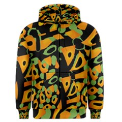 Abstract Animal Print Men s Zipper Hoodie