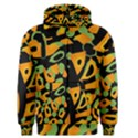 Abstract animal print Men s Zipper Hoodie View1