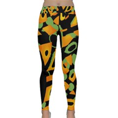 Abstract Animal Print Yoga Leggings