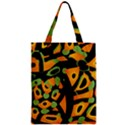 Abstract animal print Zipper Classic Tote Bag View1