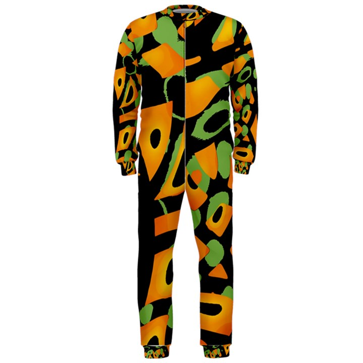 Abstract animal print OnePiece Jumpsuit (Men)