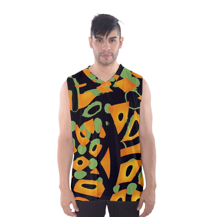 Abstract animal print Men s Basketball Tank Top