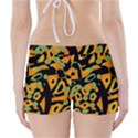 Abstract animal print Boyleg Bikini Wrap Bottoms View2
