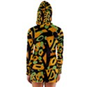 Abstract animal print Women s Long Sleeve Hooded T-shirt View2