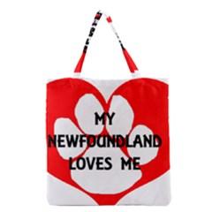 My Newfie Loves Me Grocery Tote Bag