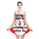My Newfie Loves Me Reversible Skater Dress