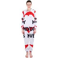 My Newfie Loves Me Hooded Jumpsuit (Ladies)