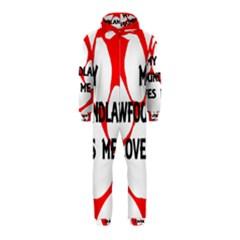 My Newfie Loves Me Hooded Jumpsuit (Kids)