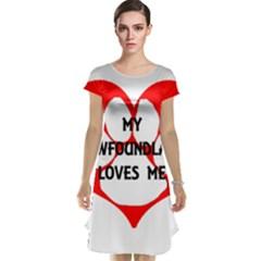 My Newfie Loves Me Cap Sleeve Nightdress