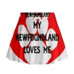 My Newfie Loves Me Mini Flare Skirt