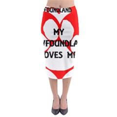 My Newfie Loves Me Midi Pencil Skirt