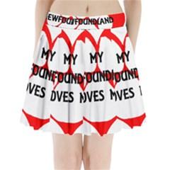 My Newfie Loves Me Pleated Mini Skirt