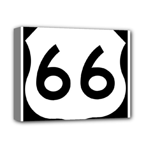 U S  Route 66 Deluxe Canvas 14  X 11  by abbeyz71